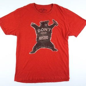 "Lucky Brand ""Don't Feed The Hipsters"" Tshirt"